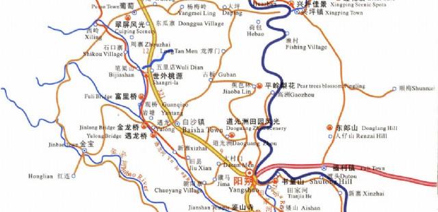 Yangshuo Tourist Map