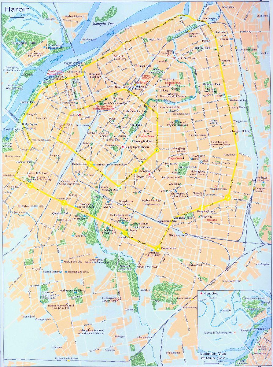 Harbin City Map