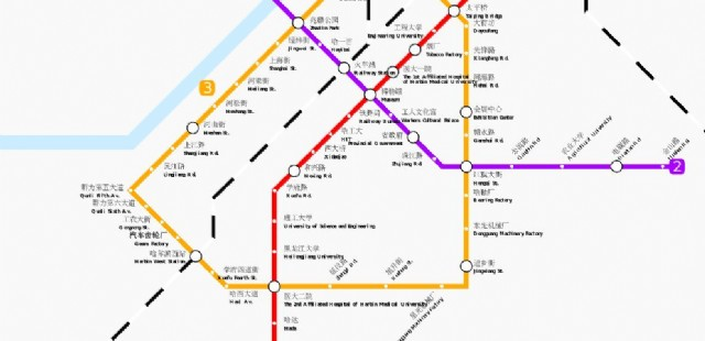 Harbin Subway Map Harbin Maps China Tour Advisors