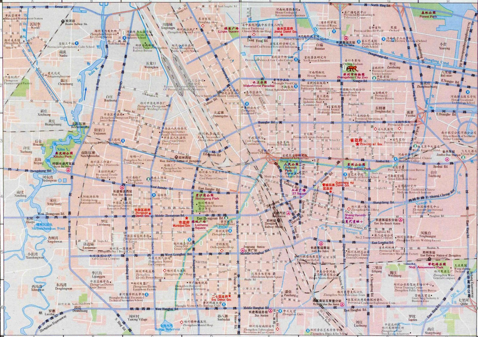 Zhengzhou Transportation Map