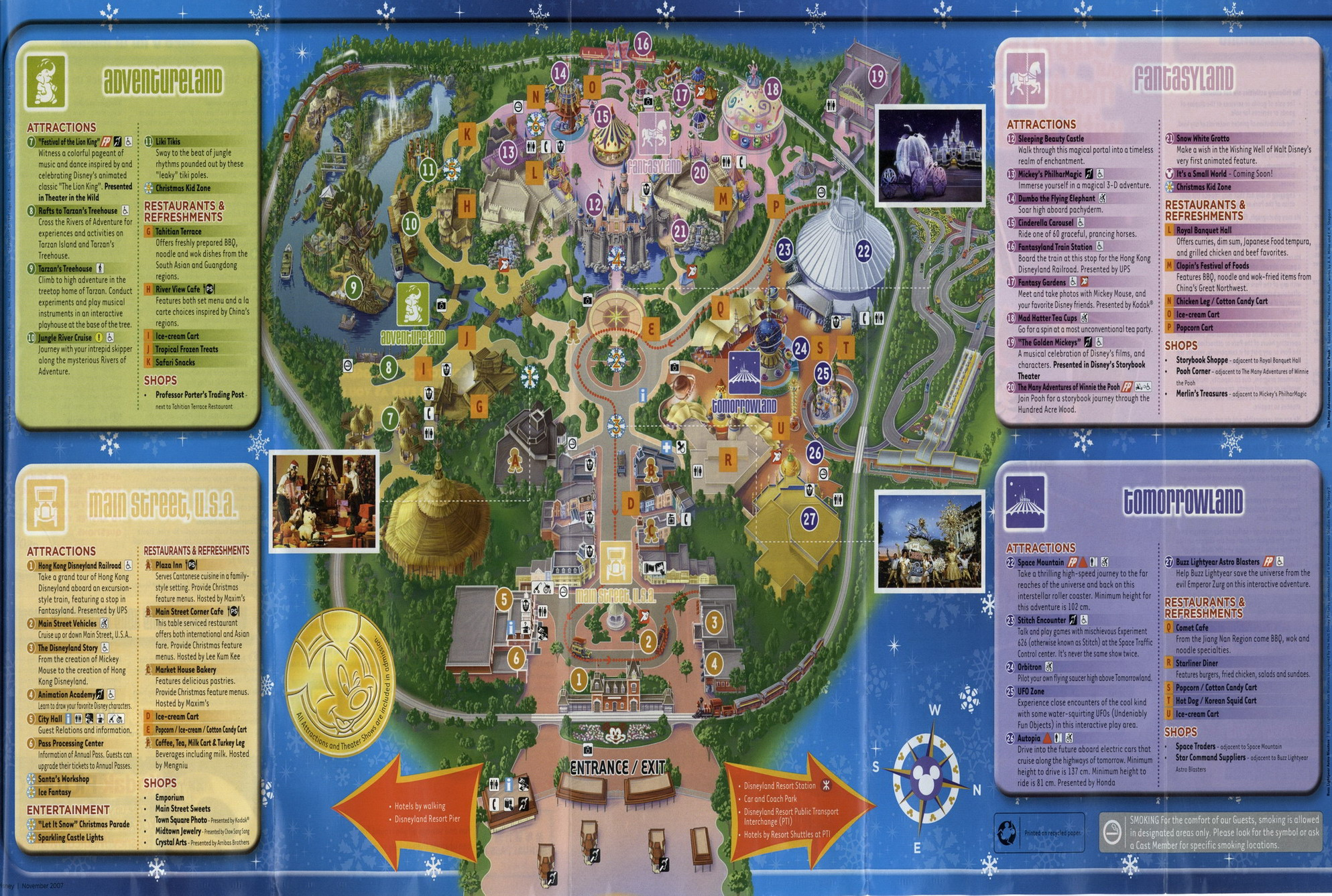 Hong Kong Disneyland Map Hong Kong Disneyland Park Map   Hong Kong Maps   China Tour Advisors Hong Kong Disneyland Map