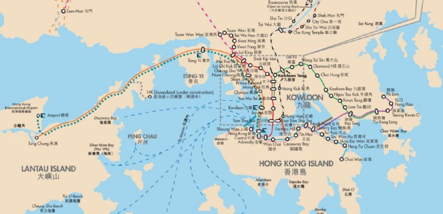 Hong Kong Transportation Map