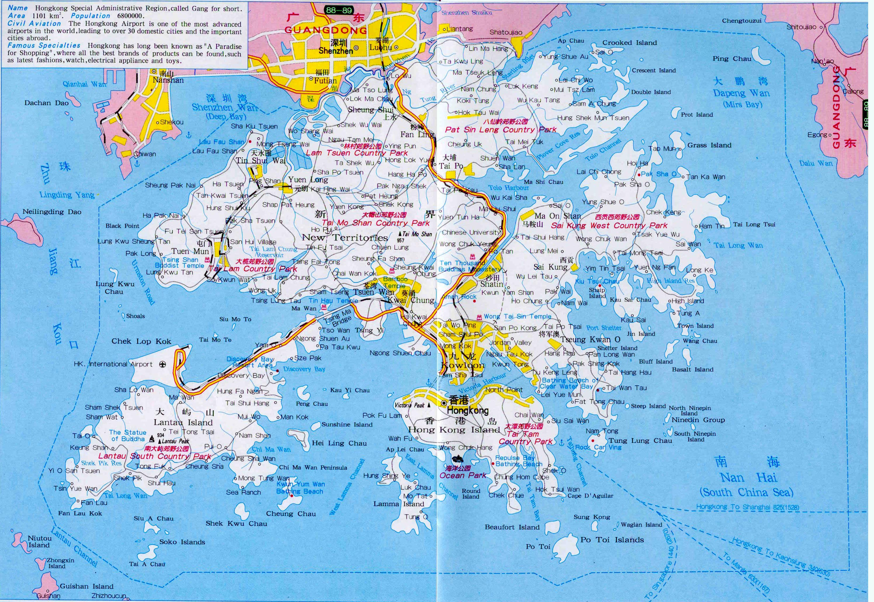 Hong Kong Travel Map Hong Kong Maps China Tour Advisors