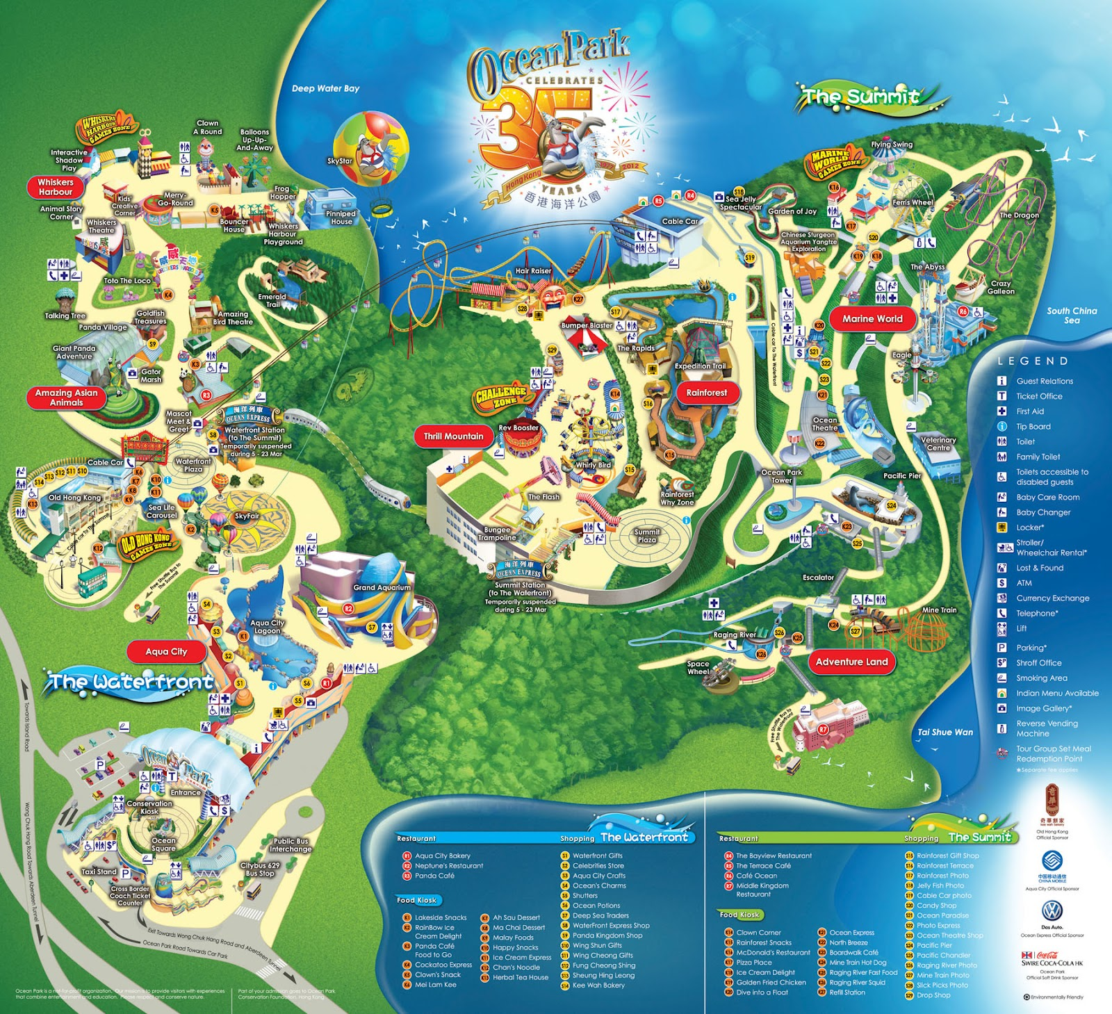 Ocean Park Map Hong Kong Maps China Tour Advisors