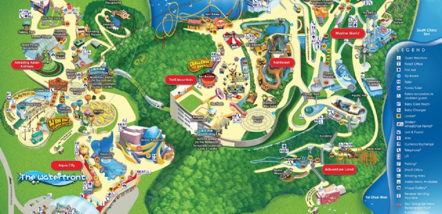 picture relating to Printable Disneyland Maps identified as Hong Kong Disneyland Park Map - Hong Kong Maps - China Excursion