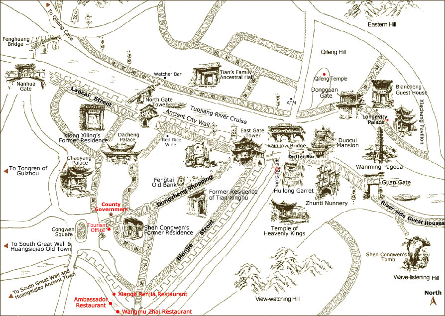 Fenghuang Tourist Map