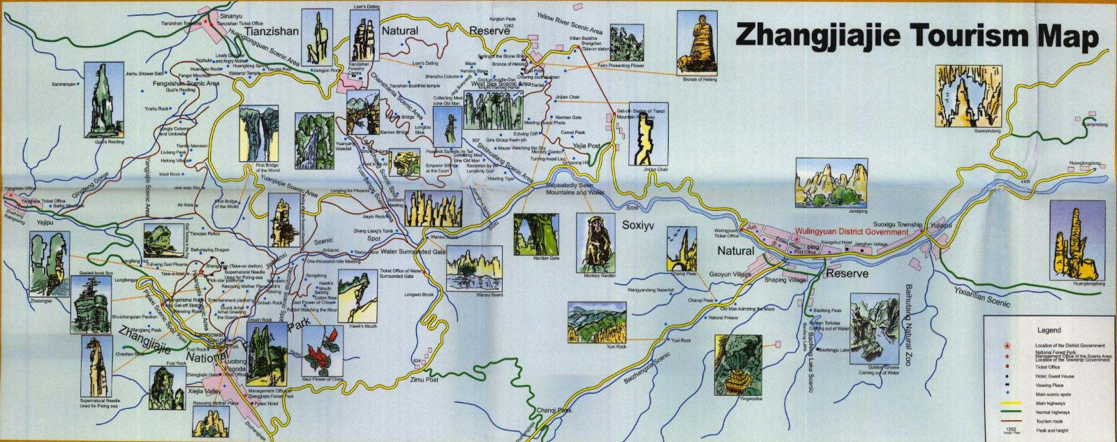 Zhangjiajie Travel Map