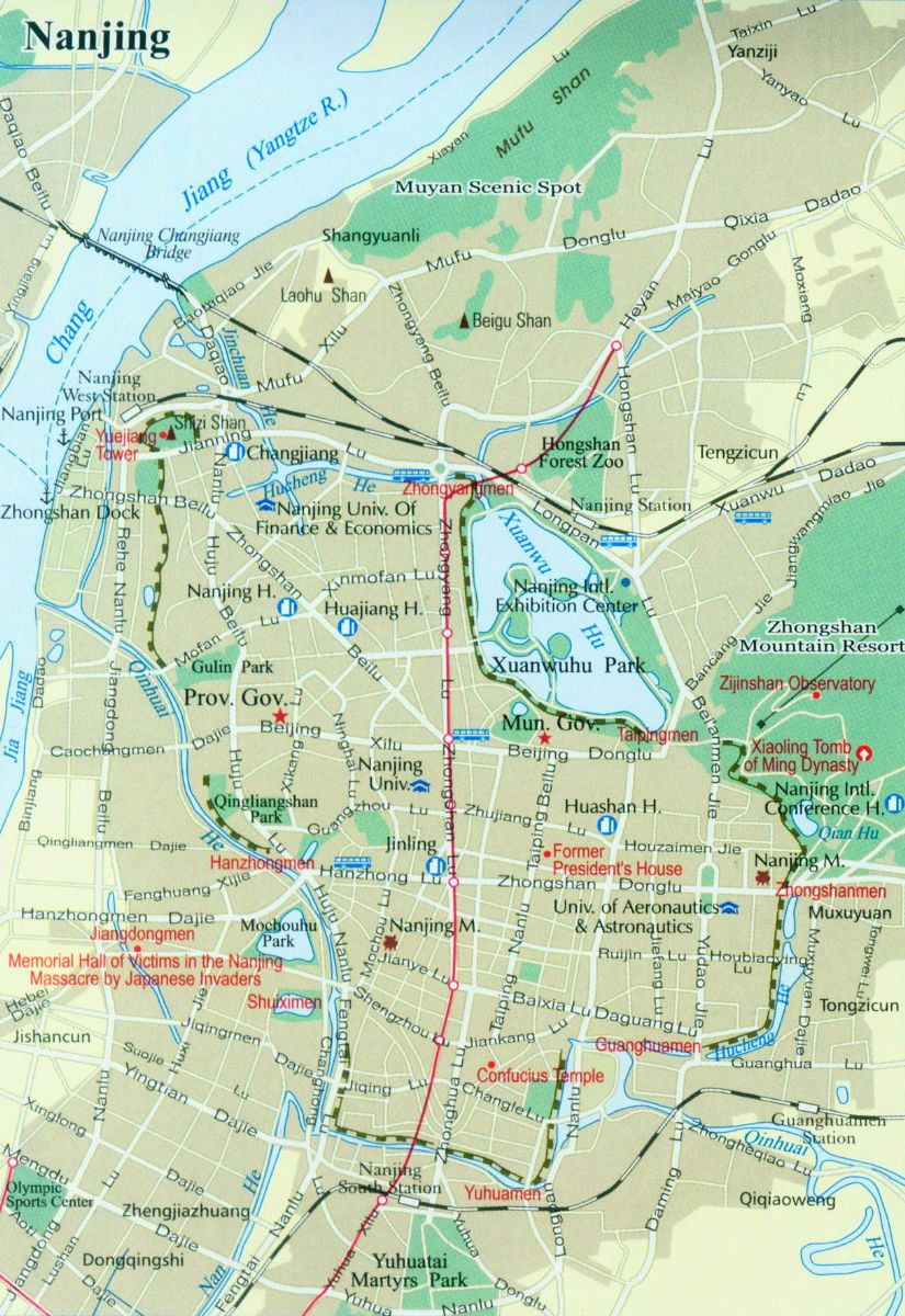 Nanjing Street Map Nanjing Maps China Tour Advisors - Nanjing map