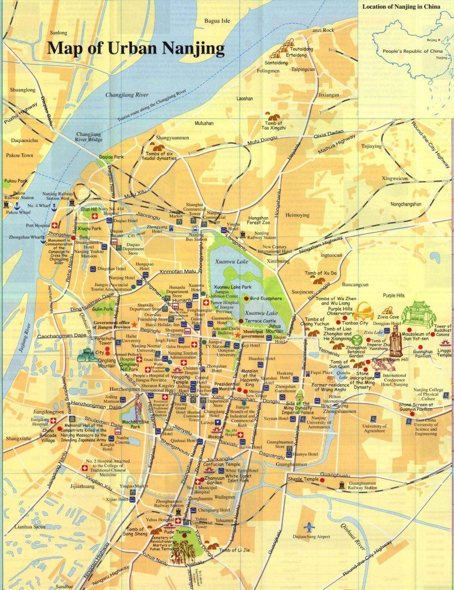 nanjing urban map  nanjing maps  china tour advisors - nanjing urban map