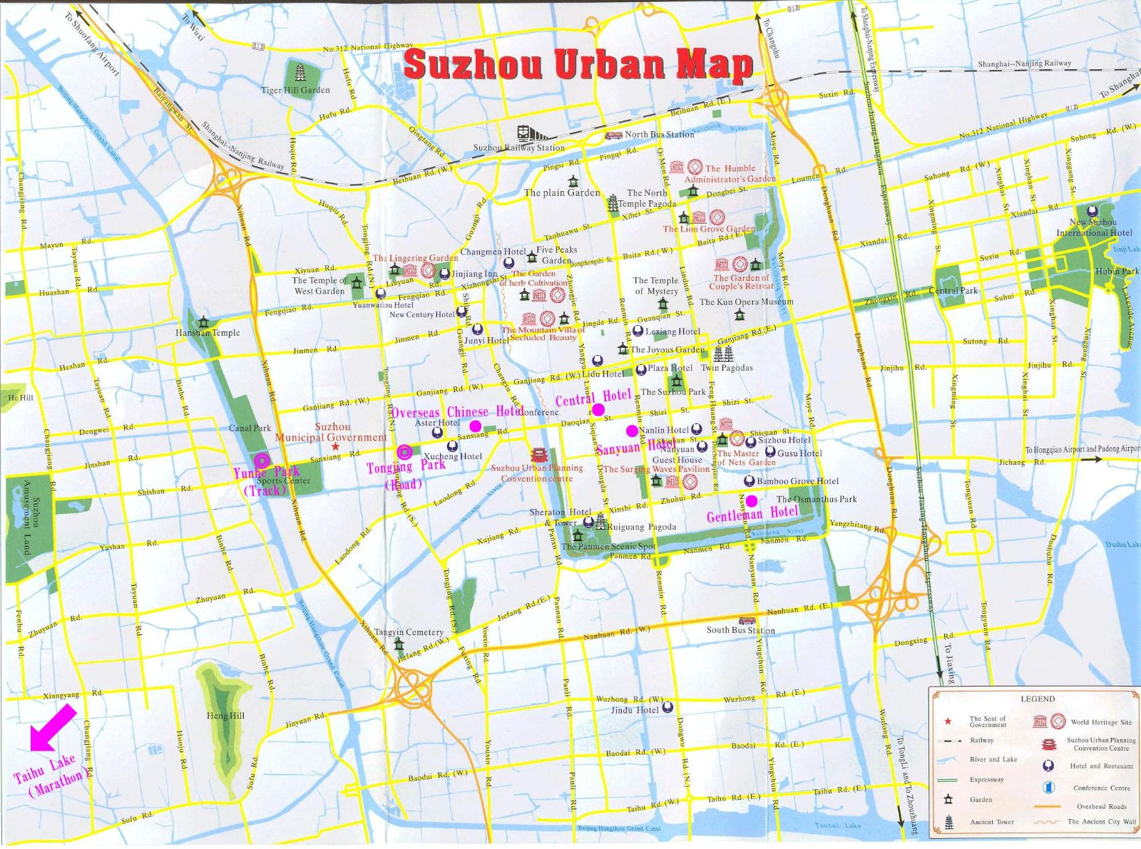 Suzhou Hotel Map