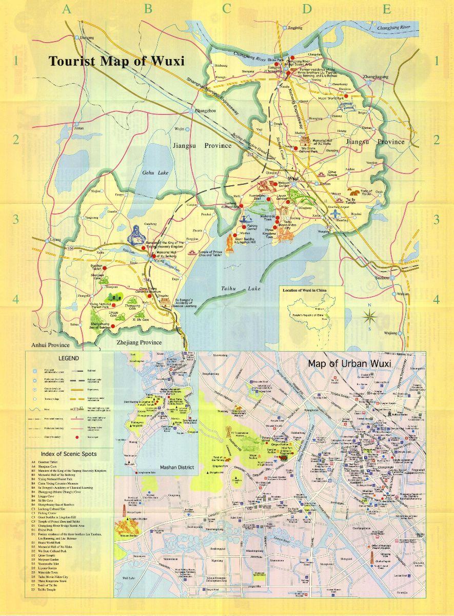 Wuxi Tourist Map