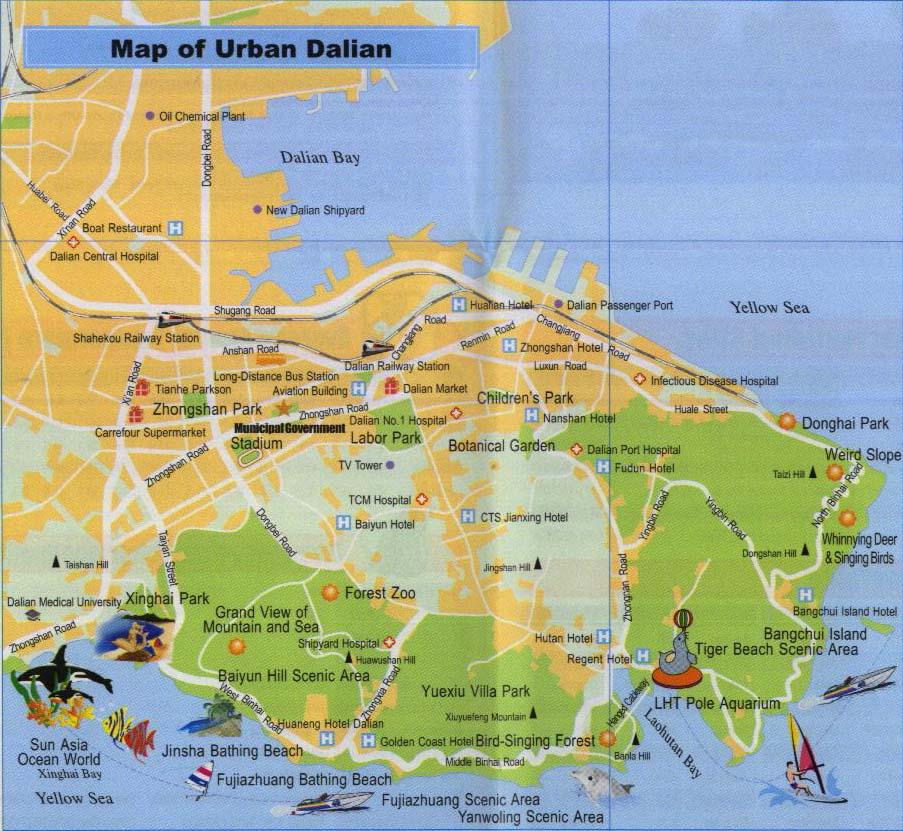 Dalian Urban Map