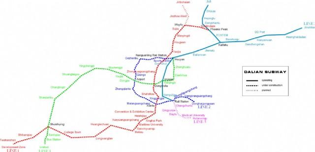 Dalian Subway Map