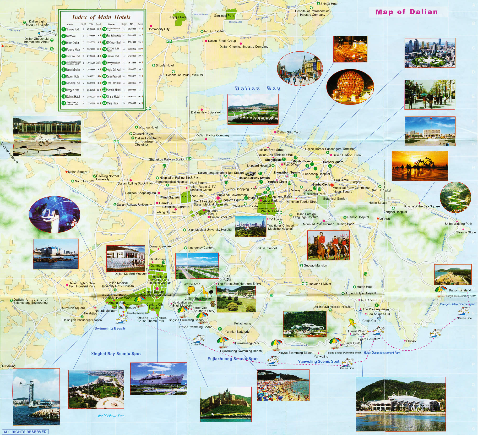 Dalian Tourist Map Dalian Maps China Tour Advisors