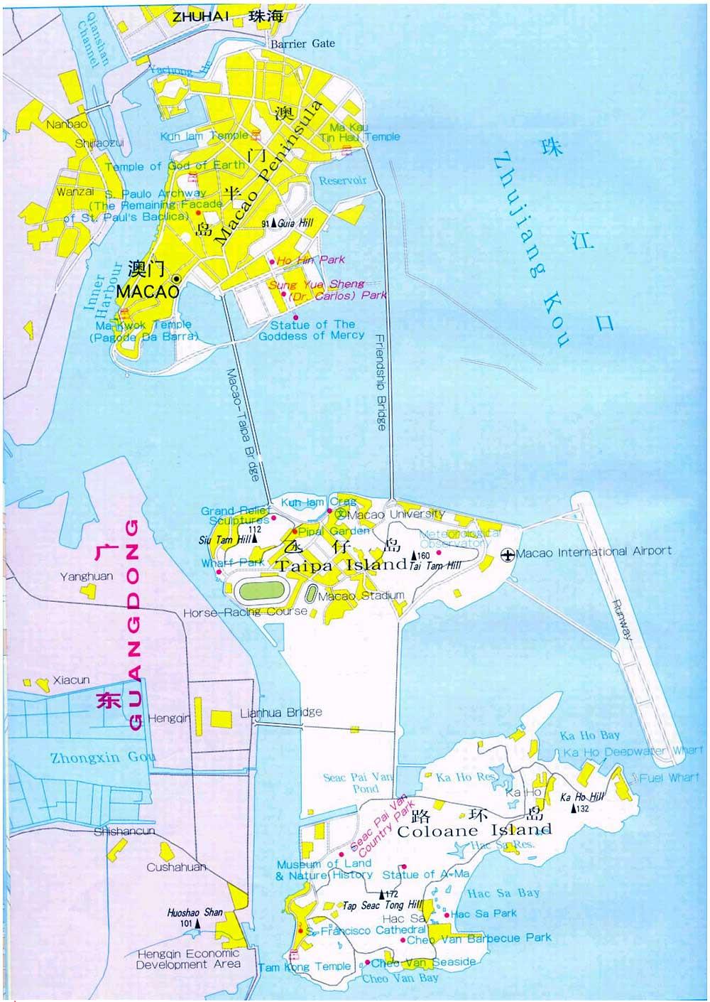 Macau City Map Macau Maps China Tour Advisors