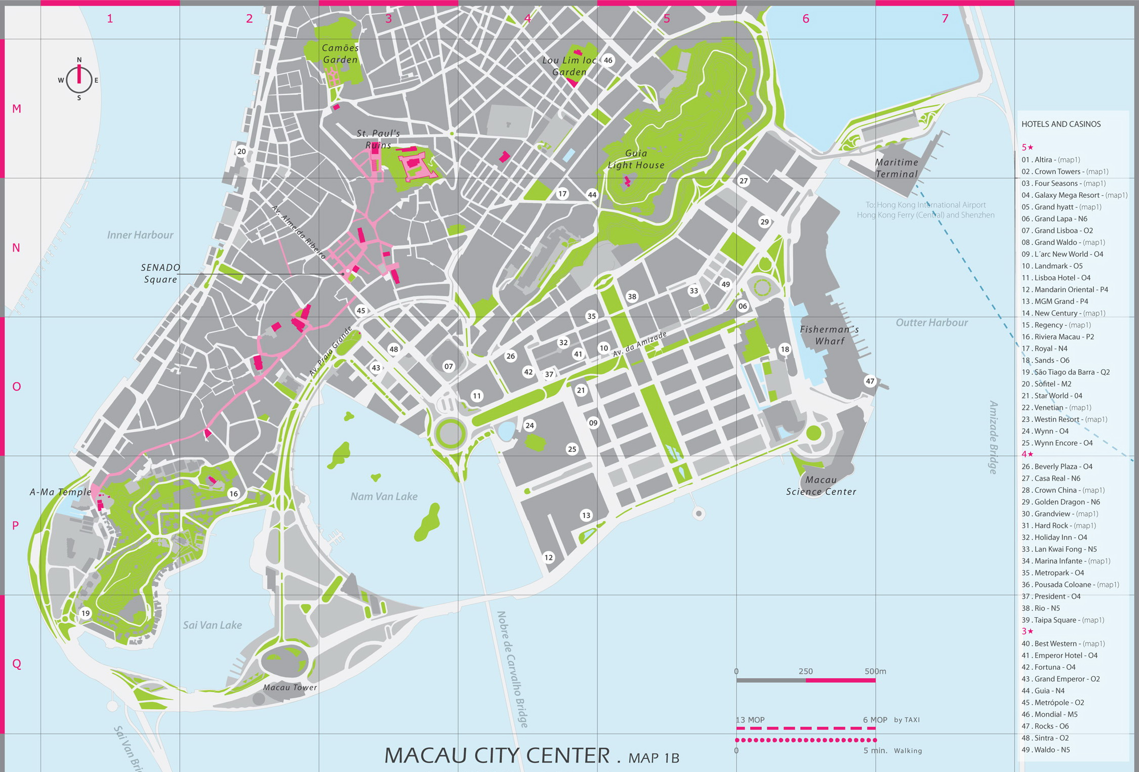 List of Synonyms and Antonyms of the Word macau maps