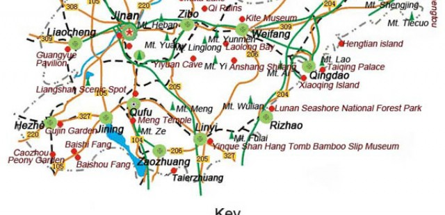 Qingdao Travel Map