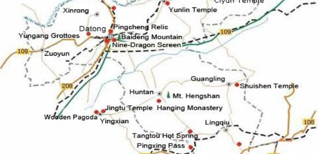 Datong Attraction Map