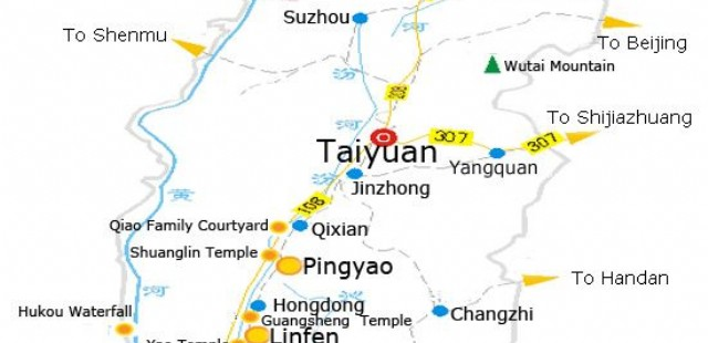Taiyuan Attraction Map