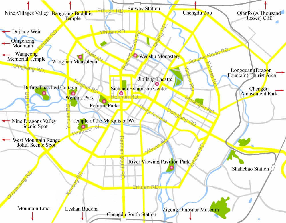 Chengdu City Map