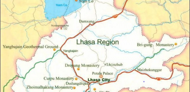 Lhasa Region Map