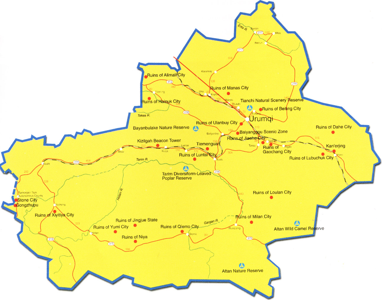 Urumqi Transportation Map