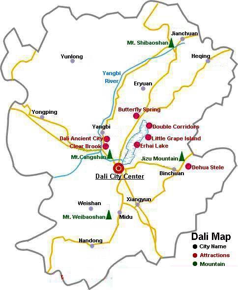 Dali Travel Map