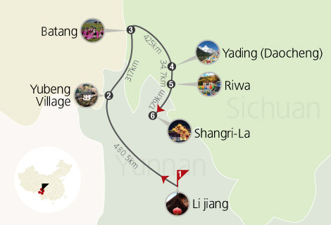 10 Days Yunnan, Yubeng Village and Sichuan Trekking Tour