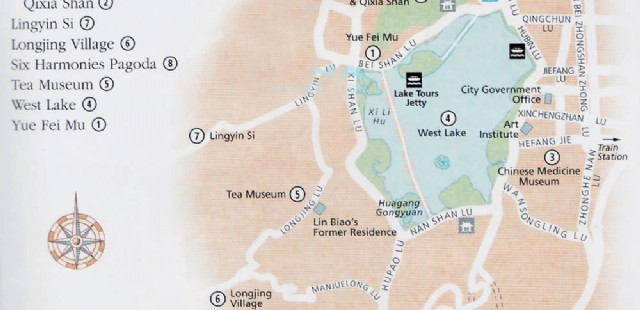 Hangzhou Attraction Map
