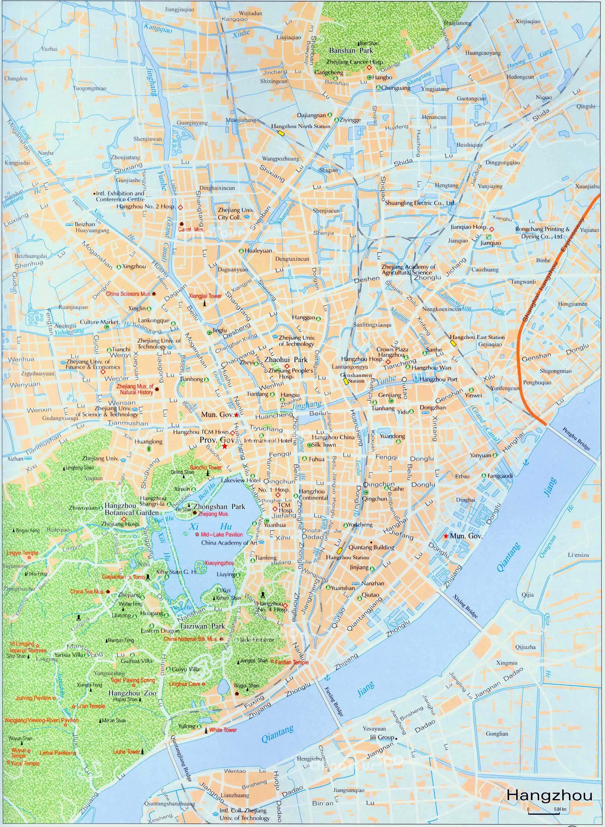 Hangzhou City Map