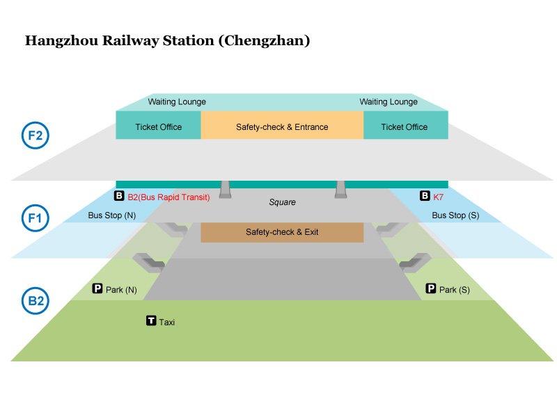 Hangzhou Railway Station Map