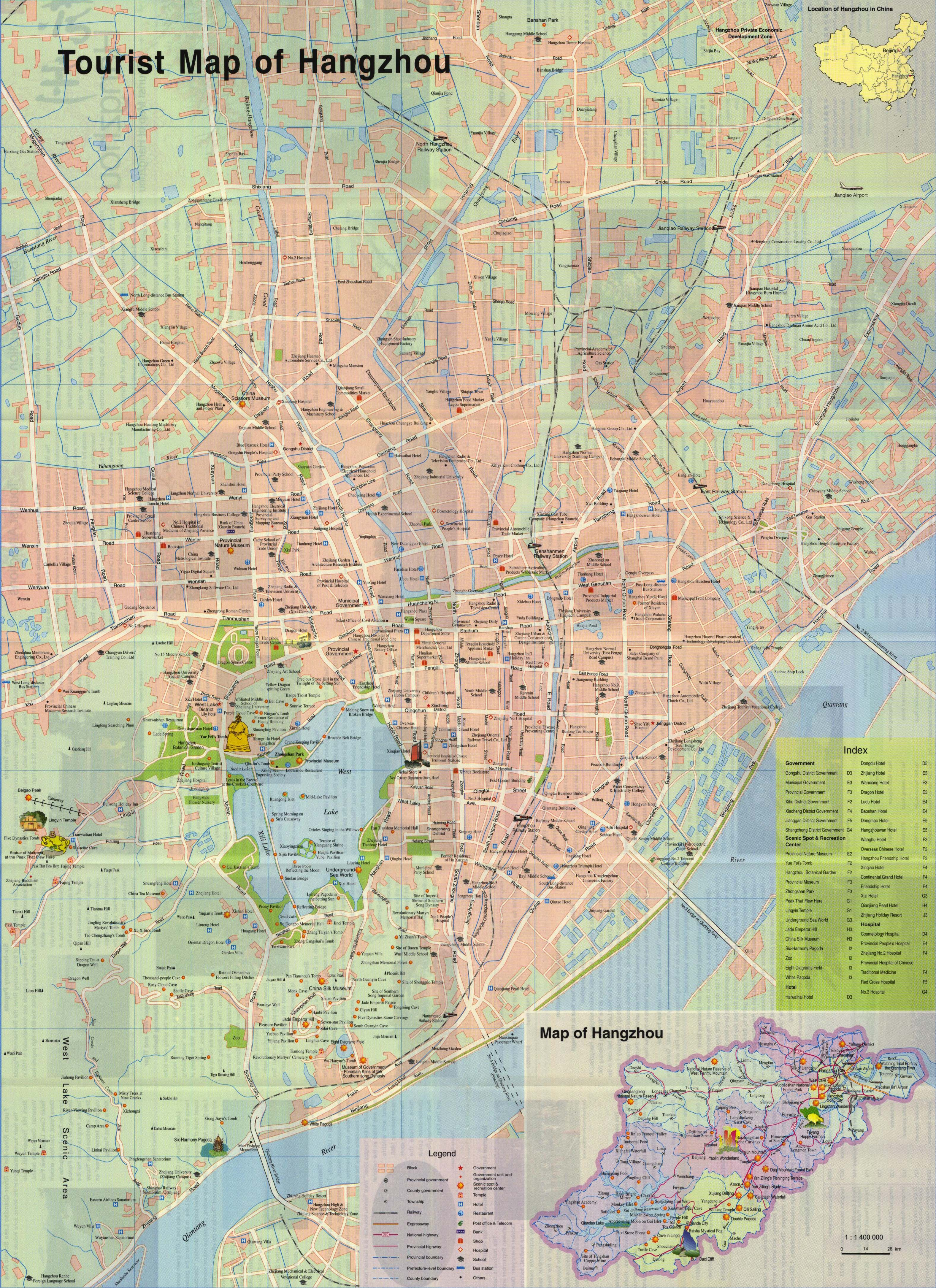 Hangzhou Travel Map
