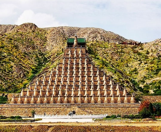 One Hundred and Eight Stupas