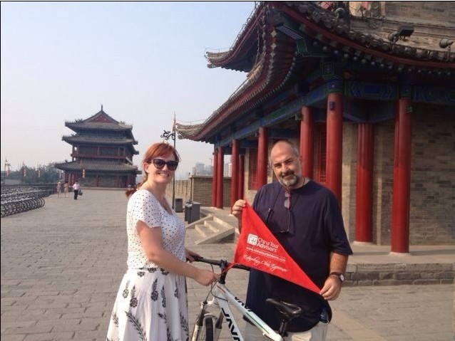 Cycling on the Xian City Wall