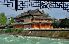 Chengdu, Leshan ,Dujiangyan Panda base & Tea house with show Simple and New way tour by Western Bus