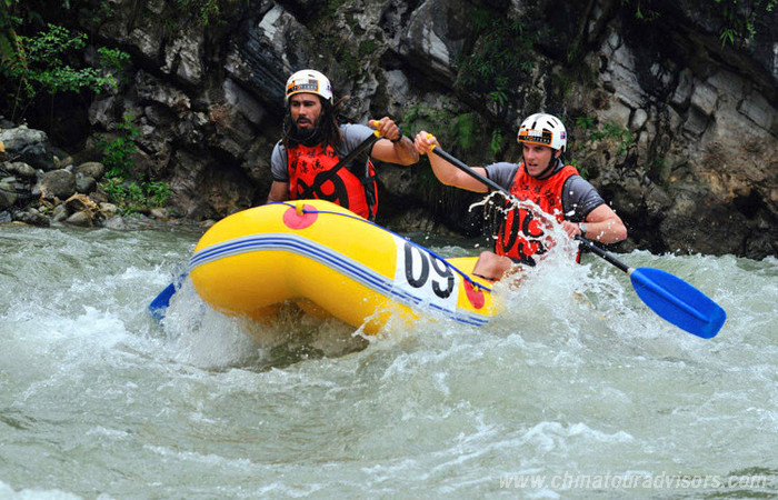 Hongkou Rafting Half Day Tour From Chengdu