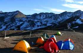 Camping at Zimeiya Pass
