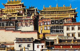 Ganden Monastery house