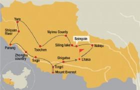 Lhasa Nakqu Baingoin SilingLake  Nyima Tsochen Yare SHIQUANHE Purang Zhongba Saga Tingri MountEverest Tingri Shigatse Lhasa