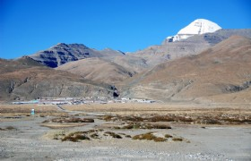 Darchen With Mount Kailash