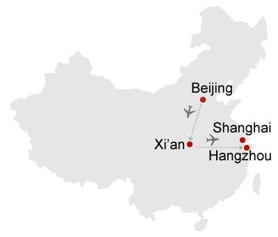 Beiijng Xian Hangzhou Shanghai 10 Days Tour