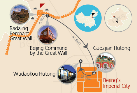 Beijing Badaling Remnant Great Wall and the Imperial City One Day Tour