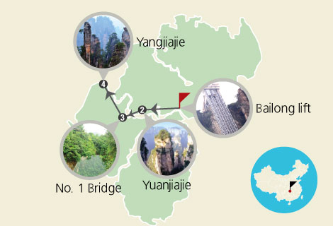 Zhangjiajie Essence 1 Day Tour (A)