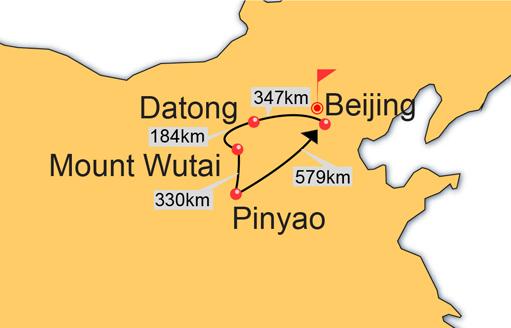 Beijing, Datong, Pingyao, Mount Wutai, Beijing 8 Days Tour