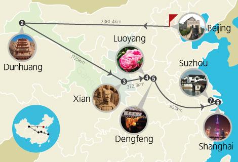 Beijing, Dunhuang, Xian, Luoyang, Shanghai, Suzhou 13 Days China World Heritage Tour