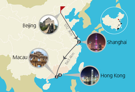 Beijing, Shanghai, Macau and Hong Kong 8 Days Memory Group Tour From India