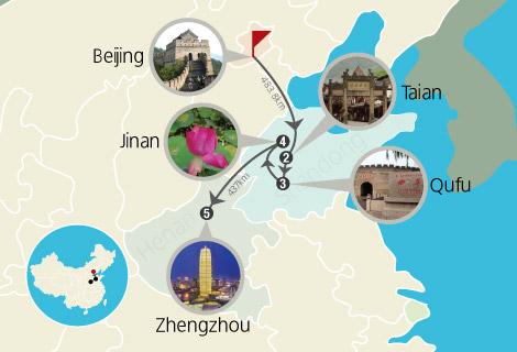 Beijing Tai'an Jinan Zhengzhou 6 Days Tour
