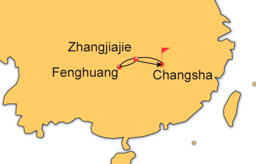 6 Day Changsha, Fenghuang and Zhangjiajie Tour