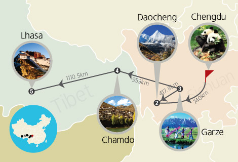 Sichuan–Tibet Highway 15 Days Tour