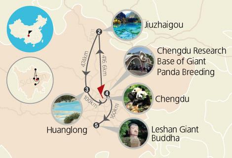 5 Days Sichuan Tour to Jiuzhaigou, Panda & Buddha